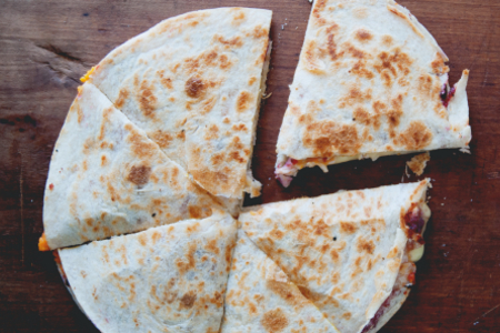 Thanksgiving Brie Quesadilla