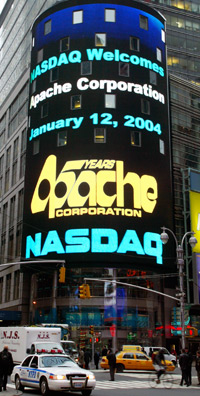 Apache dually lists on the NASDAQ stock market