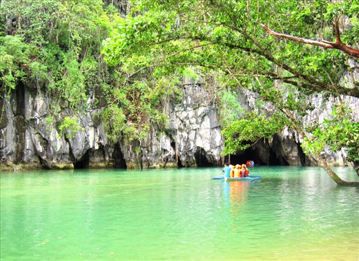 The mouth of Puerto Princesa's Underground River sets to thrill any boat rider