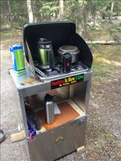 Camp stove and stand in action at Lake Louise campground: by 1911sven, Views[29]