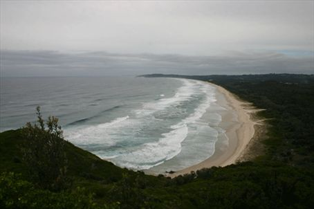 A view of the sea from the Byron Bay lighthouse