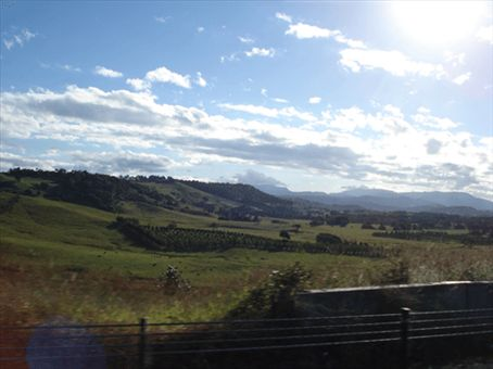 This looks like all of the hinterland you drive through in Northern New South Wales. I'm in love with the rolling green farmland and bright blue skies. It's heavenly!
