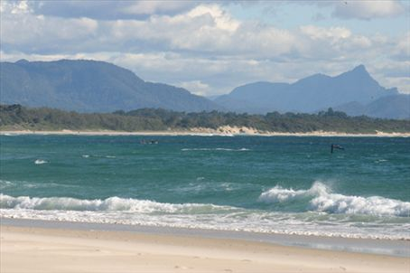 Byron Bay with Mt. Warning in the background