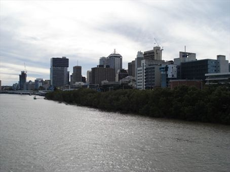 Downtown Brisbane on the river.