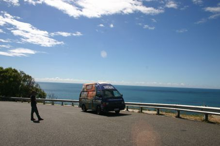 Where the van wants to be... overlooking as much beautiful blue water as possible.