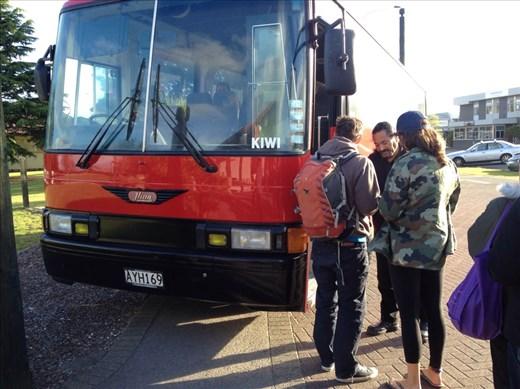KIWI! bus to Tamaki Maori Village