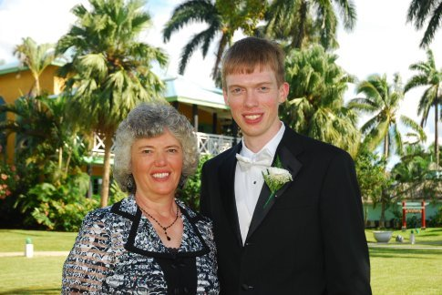 Brandon and very proud Mom.