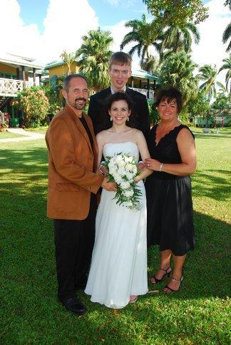 Daddy, Brandon, Arielle, and Mama.