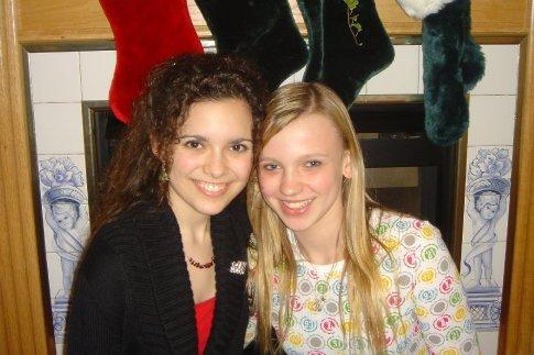 Arielle and cousin Lauren