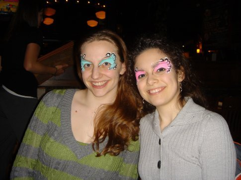 Ana and I at Upstream's 5th Anniversary.  Very fun!  I'm still finding glitter around the apartment, but I keep telling Brandon it's from Ana and my