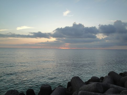 The sunset from the Sea Wall.