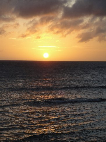 I sure don't get tired of watching the sun set over the Sea with my wonderful husband by my side!  What could be better?