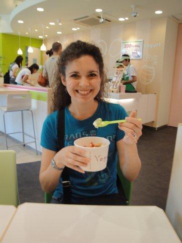 Arielle at Yogurtland!
