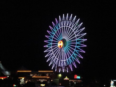 The actual Mihama Ferris Wheel.