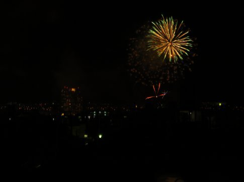These are some of my trial photos for my new camera.  Next time I'll try to capture some of the more spectacular fireworks.  :)