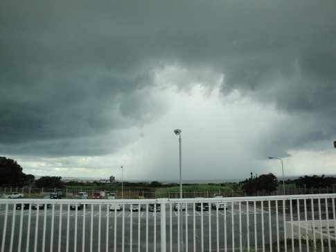 I watched the rain storm over the Sea for quite some time.  It was really neat!