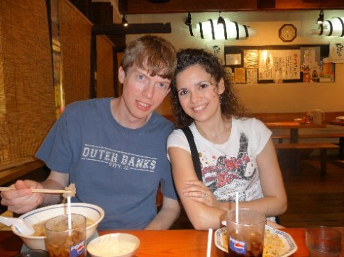 Brandon and I in our favorite ramen shop in American Village.