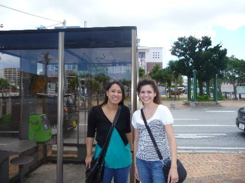 Megumi and I in American Village