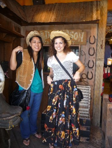Megumi and I - aren't we two of the cutest cowgirls you've ever seen?!  :)