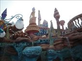 The outside of Triton's Kingdom in the Mermaid Lagoon.  Awesome architecture!: by abcarlson, Views[1322]