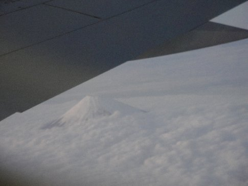 Gorgeous Mt. Fuji from the airplane window (that's the plan wing in the photo) on the way home to Okinawa.