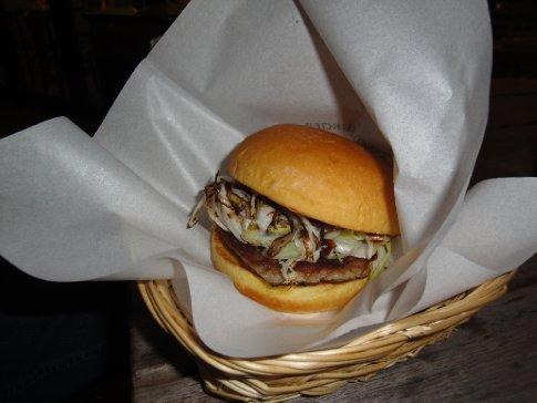 Dick's Negimiso Burger - Japanese leeks