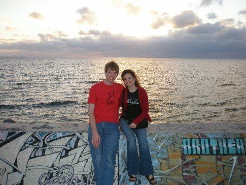 Brandon and Arielle at the Sea Wall.