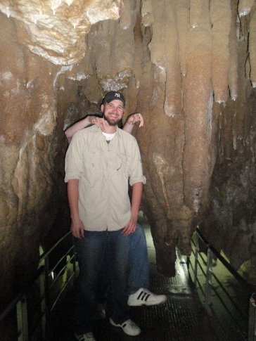 Dick stops to pose in one of the narrower parts of the cave.