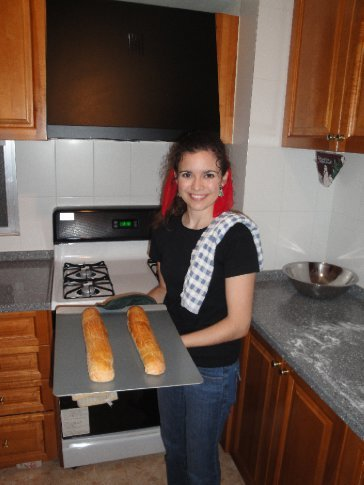 The baker hard at work