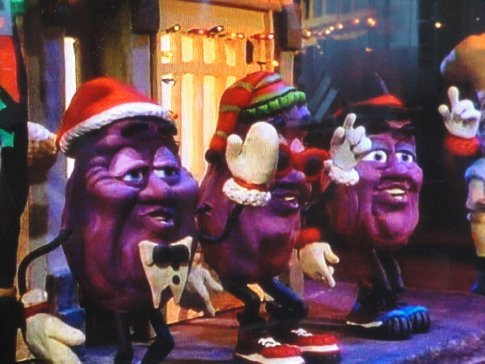 The California Raisins on Claymation Christmas - it's tradition!