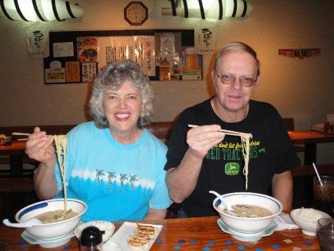 Mom & Dad at the Ramen Shop in American Village.