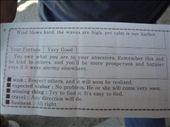 I liked Brandon's fortune regarding traveling -