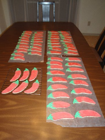 My 63 completed chili peppers.  Hot tamale, that's a lot!  :)