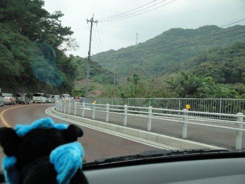 Brandon's shisa kept watch over the unfamiliar mountainous terrain.