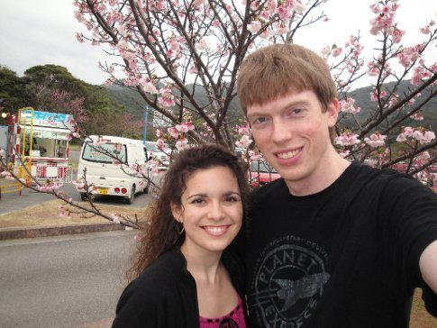 Brandon and I with the cherry blossoms