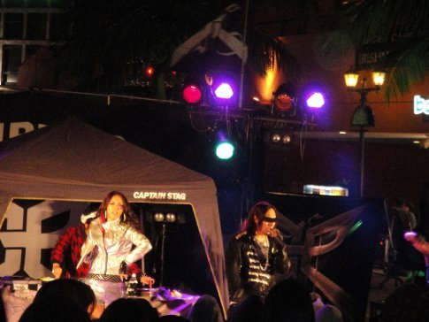 Triple-P, an Okinawa band, performed in American Village Jan 31.