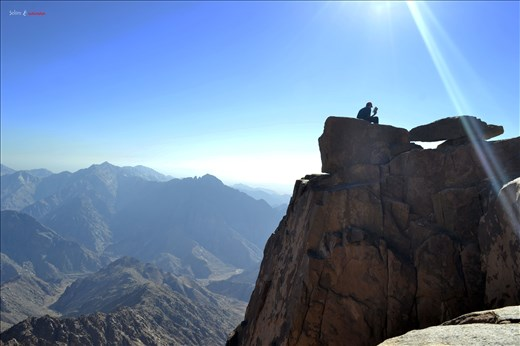 Some quality time at one of Sinai mountain