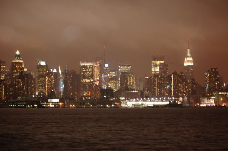 NYC by night - on a ferry heading to NJ