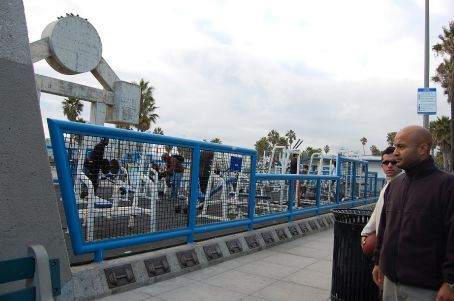 Muscle Beach workout - where Arnie used to train!