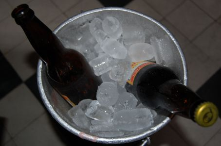 Beer served at -4 C on ice ofcourse to keep it at its best flavour!