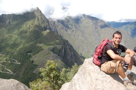 Climbed Waynupicchu mountain to view Machupicchu from above