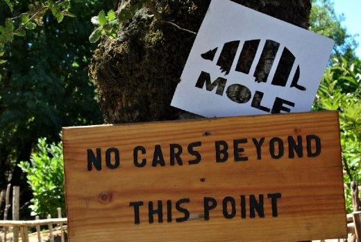 No cars, only Moles. At the Castello di Amorosa in Napa Valley, CA.  http://www.moletheworld.com/
