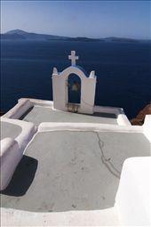 A small Belltower in Oia overlooking Santorini's Caldera, Greece.: by adamadams, Views[150]