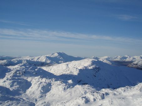 View from the top out to Ben Lomond.