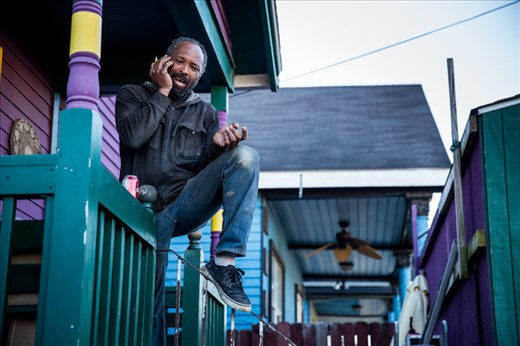 Darren is one of the many volunteers who are still working to rebuild the Lower Ninth Ward.