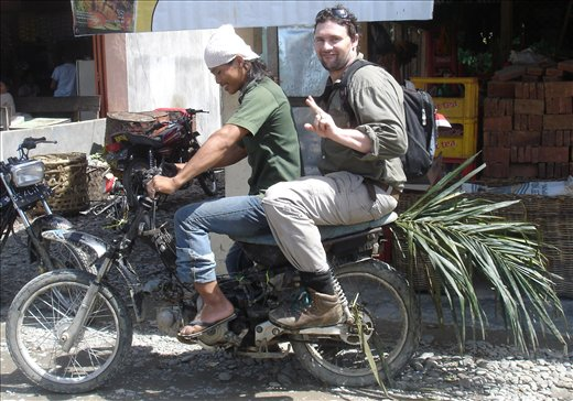 Palm frond mud guard!