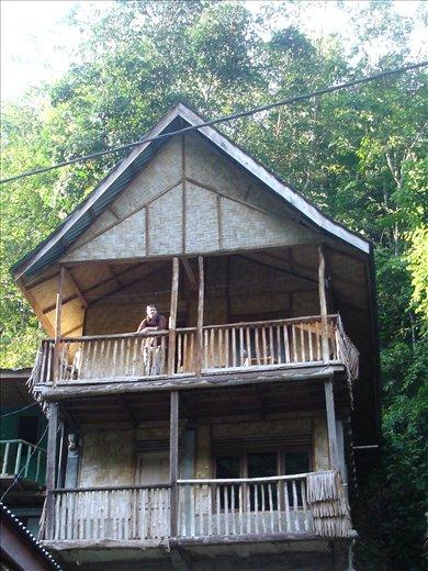 our 2 storey bamboo shack in Bukit Lawang, Sumatra, Indonesia