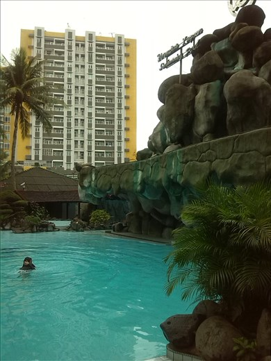 Pool at Danau Toba International Hotel in Medan.