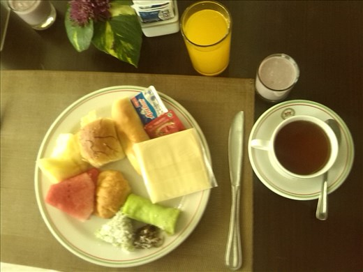 Breakfast.  Danau Toba International Hotel.