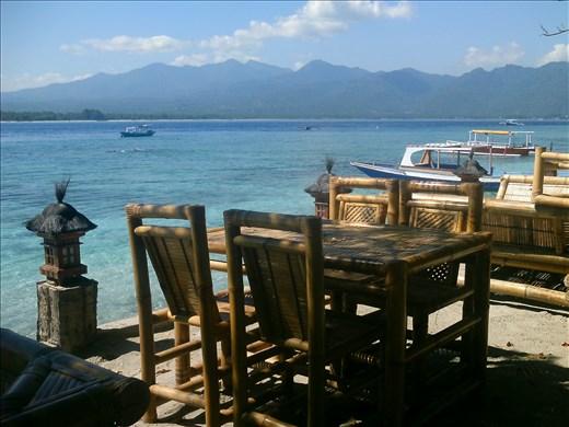 restaurant by the sea.  gili air